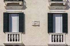 venetian winged lion ona facade Stock Image