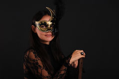 Venetian woman in mask Stock Photo