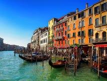 Venetianische Farben auf einem Winter-Morgen stockfotografie