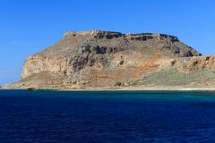 Venetianische Festung auf der Insel Gramvousa, Griechenland Lizenzfreies Stockfoto