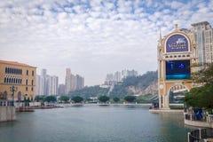 Venetianische Flussseite in Macau, China Lizenzfreie Stockbilder