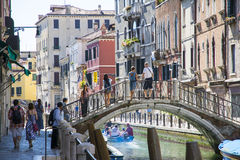 Venetianische Gondolieren Lizenzfreie Stockbilder