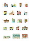 Venetianische Häuser eingestellt - italienische Gebäude eingestellt Lizenzfreies Stockbild