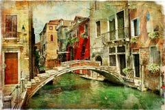 Venetianische Kanäle stockfotografie