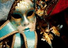 Venetianische Karnevals-Schablone Lizenzfreies Stockfoto