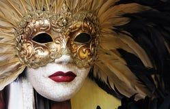 Venetianische Karnevals-Schablone Stockfoto
