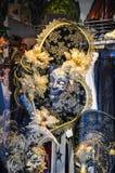 Venetianische Karnevals-Schablone Stockfotos