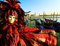 Venetianische Karnevalsschablone Lizenzfreie Stockfotos