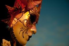 Venetianische Karnevalsschablone Stockfoto