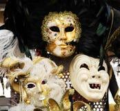 Venetianische Karnevalsschablonen stockbild
