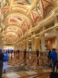 Venetianische Kasino-Hotellobby in Las Vegas Stockfotografie