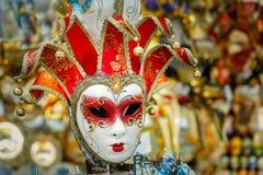 Venetianische Maske der typischen Weinlese, Venedig, Italien Stockfoto