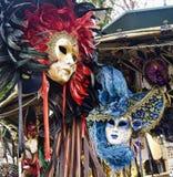 Venetianische Maske im Verkauf in Venedig Stockfotografie