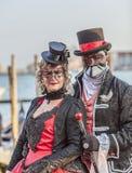 Venetianische Paare Stockfotografie