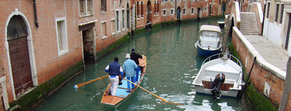 Venetianische Ruderer Lizenzfreies Stockfoto