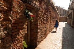 Venetianische Straße stockbilder