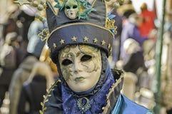 Venetianischer blauer Zauberer Stockbild