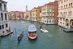 Venetianischer großartiger Kanal Stockfotos