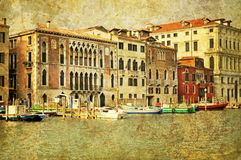 Venetianischer großartiger Kanal stockfoto