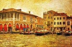 Venetianischer großartiger Kanal lizenzfreies stockfoto