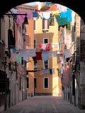 Venetianischer Hinterhof Stockfoto