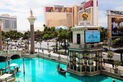 Venetianischer Kasino-Hotel-Erholungsort auf dem Las Vegas-Streifen Stockfotos