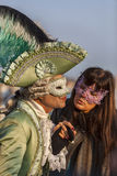 Venetianischer Kuss Stockfotografie