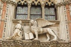 Venetianischer Löwe Lizenzfreie Stockfotos