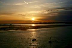 Venetianischer Sonnenuntergang lizenzfreie stockfotos
