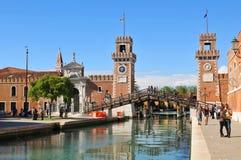 Venetianisches Arsenal Stockfotografie
