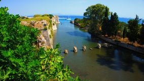 Venetianisches Schloss von Agia Mavra - griechische Insel von Lefkas stockfoto