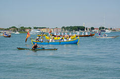Venetians célèbrent le della Sensa de Festa Photos libres de droits