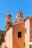 Venetians church, Corfu city. Typical small venetians church, Kerkyra, Corfu island, Greece Stock Image