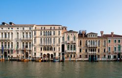 Venetians' houses on the Grand Canal Royalty Free Stock Photography