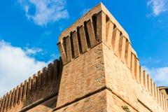 Venetians medieval  Fortress in Brisighella. The brick walls of the medieval Fortress of Venetians in Brisighella Royalty Free Stock Photos