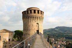 Venetians medieval Fortress in Brisighella. The brickwalls of the medieval Fortress of Venetians in Brisighella Stock Image