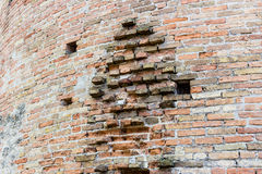 Venetians medieval Fortress in Brisighella. The brickwalls of the medieval Fortress of Venetians in Brisighella Royalty Free Stock Images