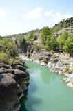 Venetikos-Fluss in Grevena, Griechenland stockfotos
