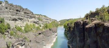 Venetikos-Fluss in Grevena, Griechenland lizenzfreies stockbild