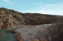 Venetikos-Fluss in Grevena, Griechenland stockbilder