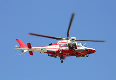 Veneto, Italy - May 26, 2016: Italian helicopter  of fire depart Royalty Free Stock Photography