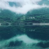 veney水坝的湖 免版税库存照片
