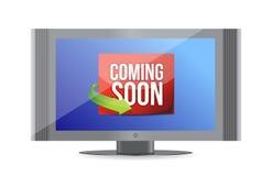 Venez bientôt sur l'écran de TV Image libre de droits