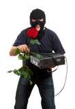 venez l'amie de cadeau heureuse son voleur à Photos stock