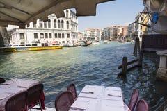 Veneza, canal grande Fotos de Stock Royalty Free