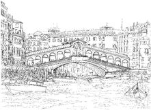 Veneza - canal grande Vista da ponte de Rialto