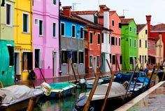 Veneza, console de Burano foto de stock