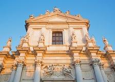 Veneza - dei Gesuiti de Chiesa da igreja (Santa Maria Assunta) na luz do por do sol Foto de Stock