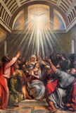 Veneza - a descida do espírito santo por Titian (1488 - 1576) na igreja Santa Maria della Salute Foto de Stock Royalty Free