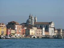 Veneza do canal de Giudecca fotografia de stock